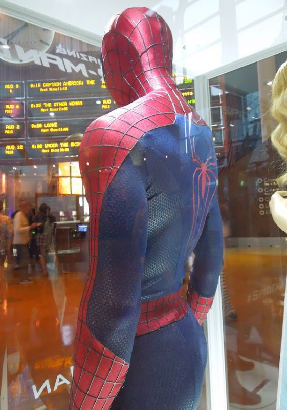 Amazing Spider-man 2 movie costume back