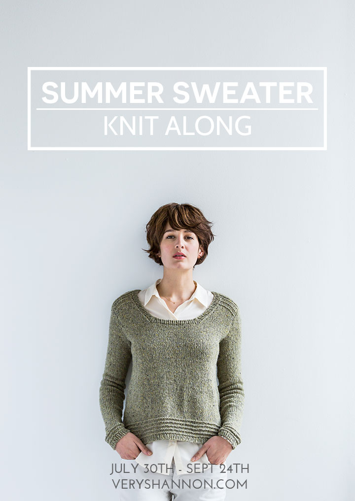Summer Sweater Knit Along 2014 || VeryShannon.com