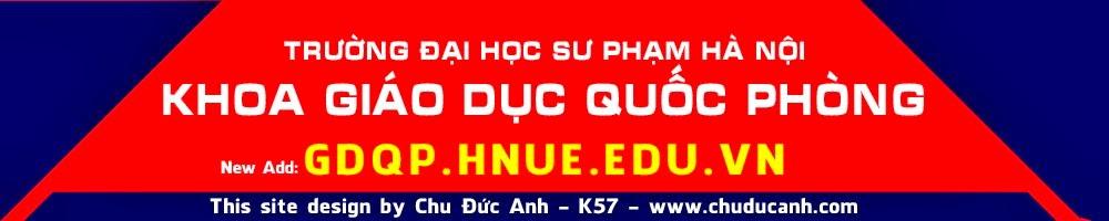 Khoa Giáo dục Quốc phòng trường ĐHSP Hà Nội, khoa gdqp, gdqp