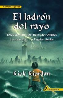 Percy Jackson y el ladrón del rayo de Rick Riordan