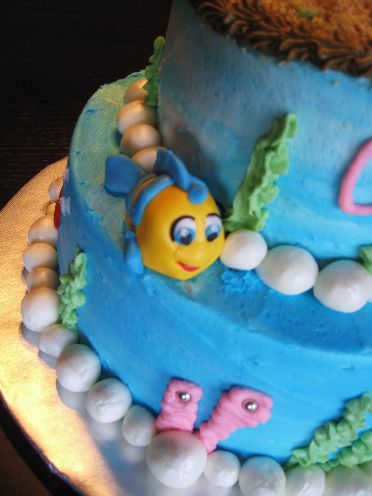 Flounder And Sebastian Cake Toppers