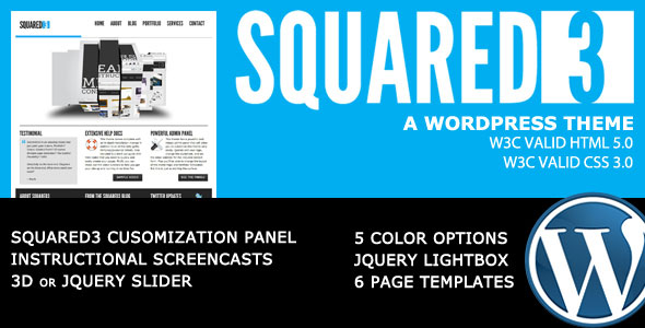 SQUARED3 Theme Free Download by ThemeForest.