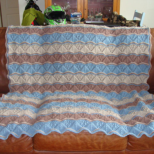 Lacy Waves Afghan