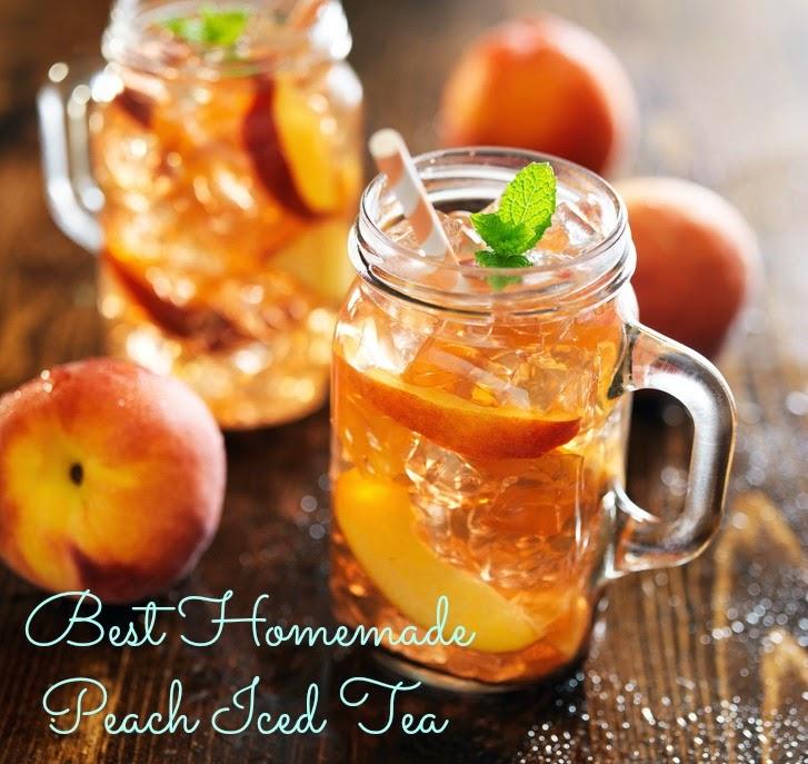 homemade peach iced tea recipesbnb