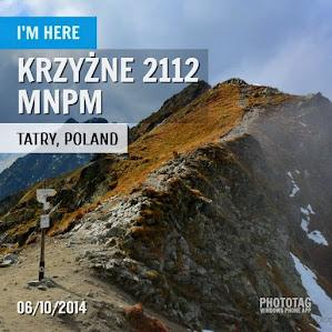 Moje Tatry - Krzyżne 6.10.2014