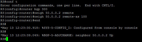 EBGP configuration