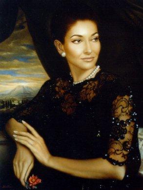 María Callas en pintura