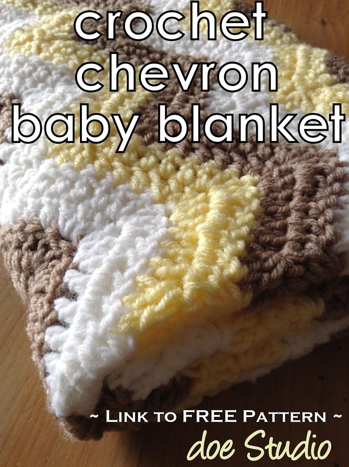 Stitch & Wick: ~free pattern~ Crochet Chevron Baby Blanket