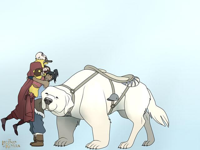 korra hug tenzin family