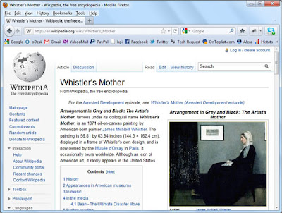 Wikipedia presents information about the image.