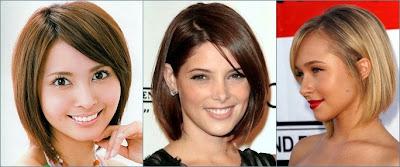 contoh model rambut bob medium