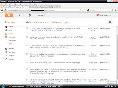 Komentar Masuk Filter SPAM Blogger