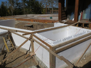foundation walls for custom lake home addition, john huisman