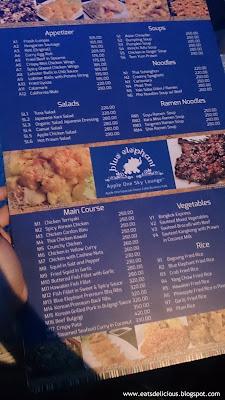 blue elephant in cebu menu