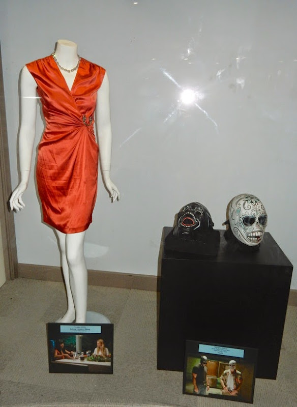 Savages movie costume mask exhibit