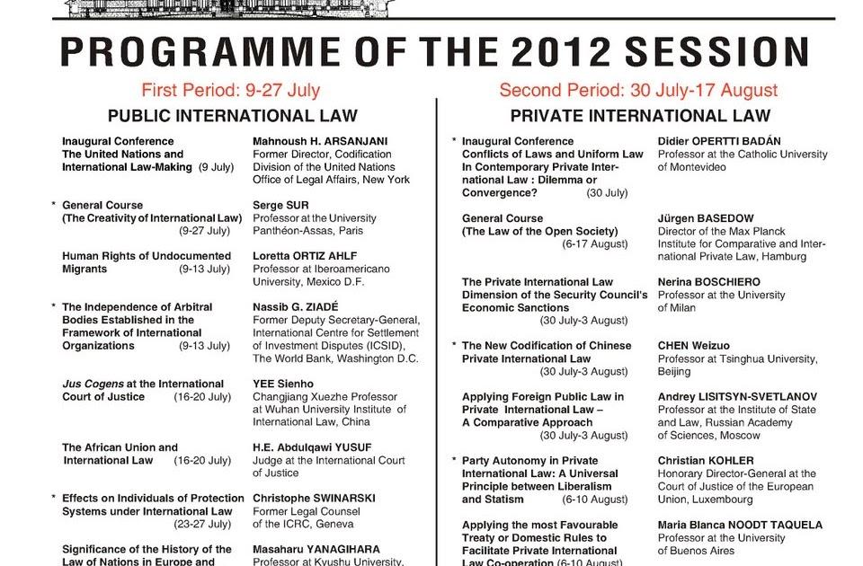 International Law Reporter Hague Academy Of International