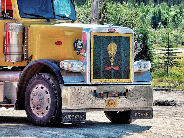 Tweety Bird Truck, Ice Road, Coldfoot, Alaska, Summertime