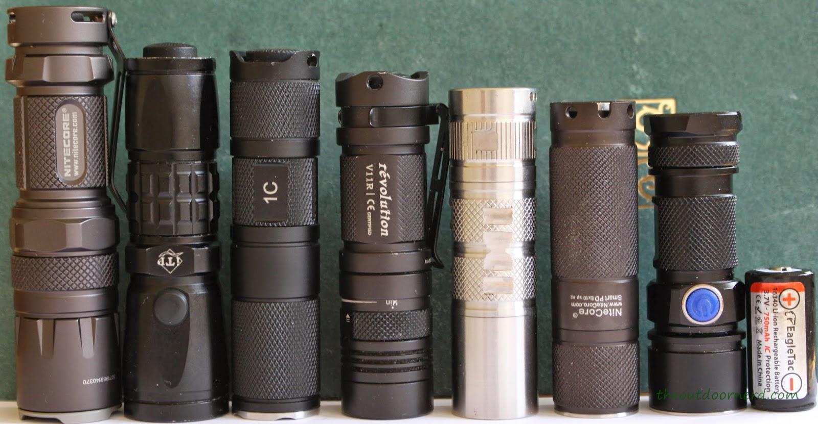 Nitecore Ex10 1xCR123A Flashlight and EDC Friends
