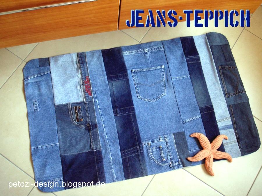 petozi design jeans teppich. Black Bedroom Furniture Sets. Home Design Ideas