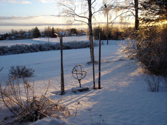 Jordglob snö