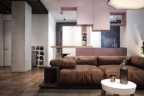 Pink: Minimalist Apartment in Kiev