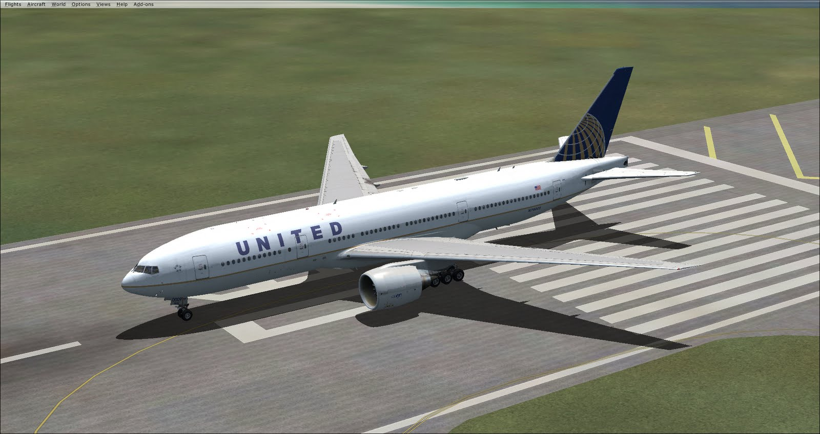 Fsx united airlines 777.