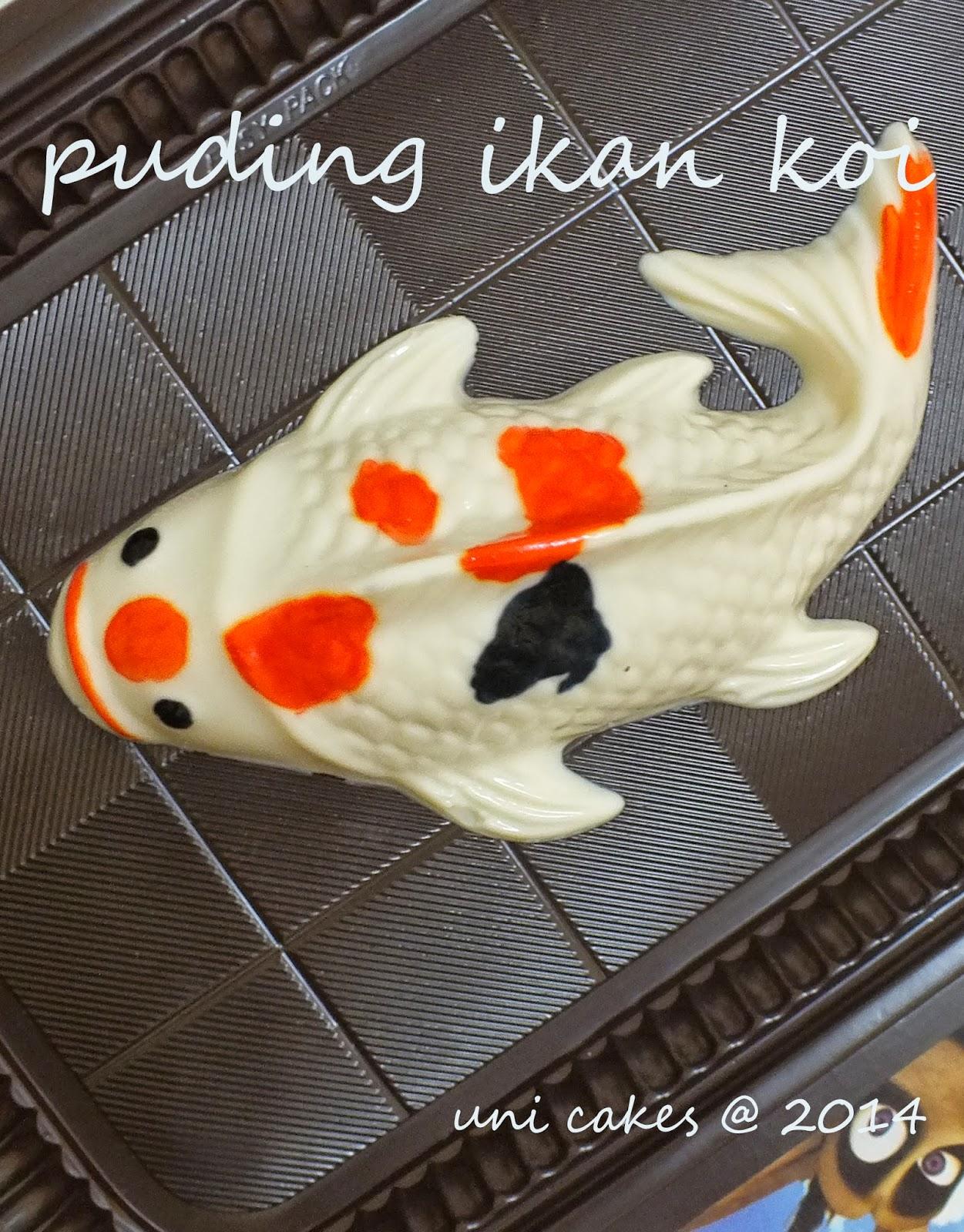 Puding Ikan Koi Teknik Painting Marjan Syrup