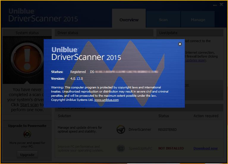 Uniblue DriverScanner 2015