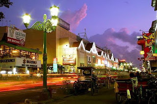 Sore hari di Jalan Malioboro Yogyakarta