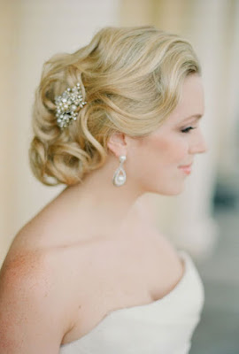 Chignon hairstyle for wedding