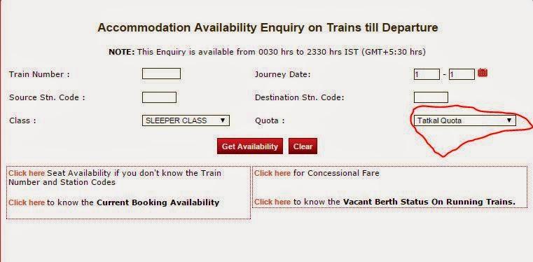 passenger reservation railway enquiry