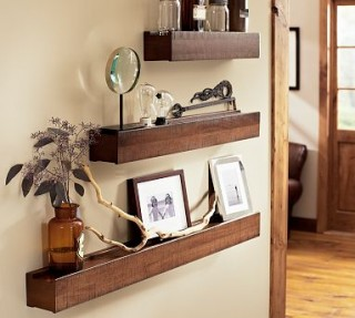 Art Wall Decor: Rustic Wood Wall Shelves | Rustic Wall Art Decor