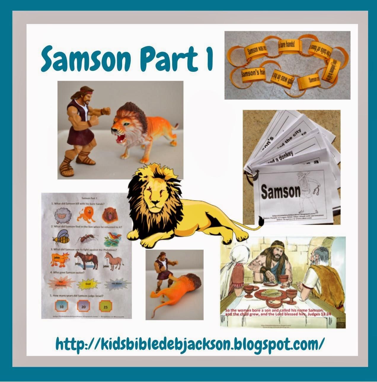 Samson and Delilah children's version - dltk-bible.com