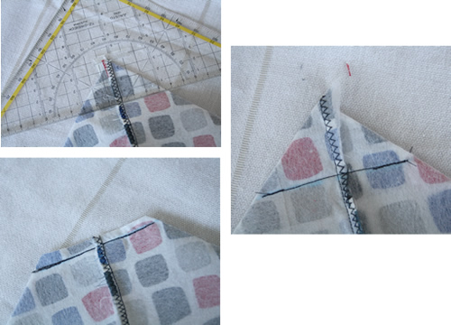 Tote bag tutorial - making the bottom of the bag