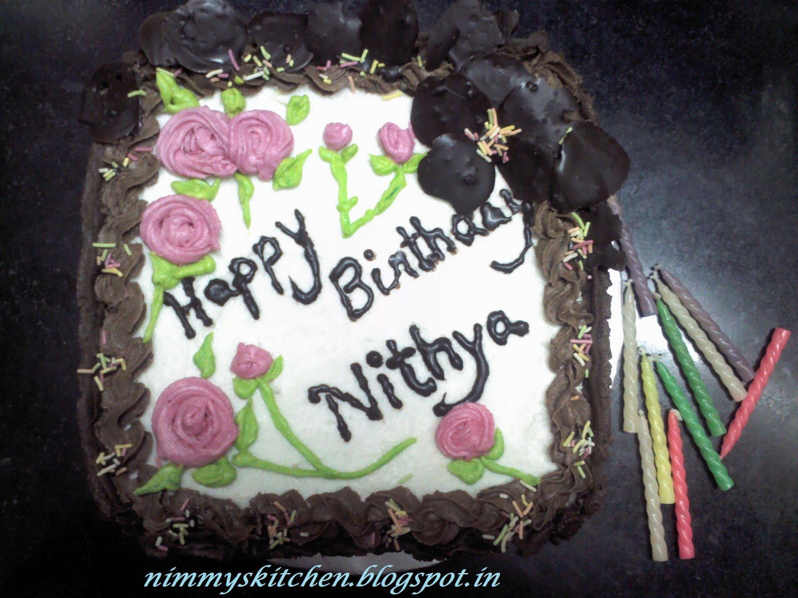 Heres Some Snaps Of The Birthday Cake That I Made Hope You Will Enjoy Watching Them