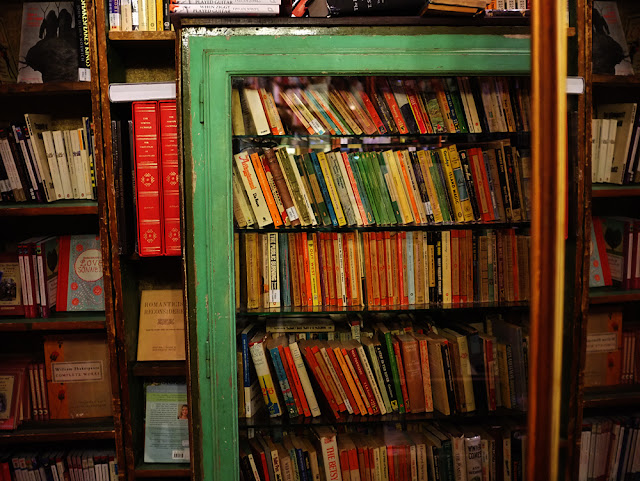 Shakespeare and Company interior books - Photograph by Tim Irving