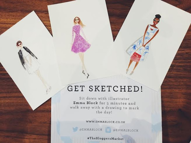 bloggers market august 2015 hoxton hotel london holborn the apartment emma block fashion illustration