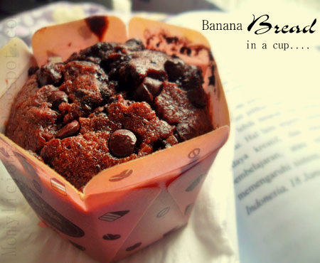 Chocolate Banana Bread in a cup