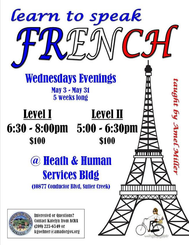 Learn to Speak French - Weds, May 3-31