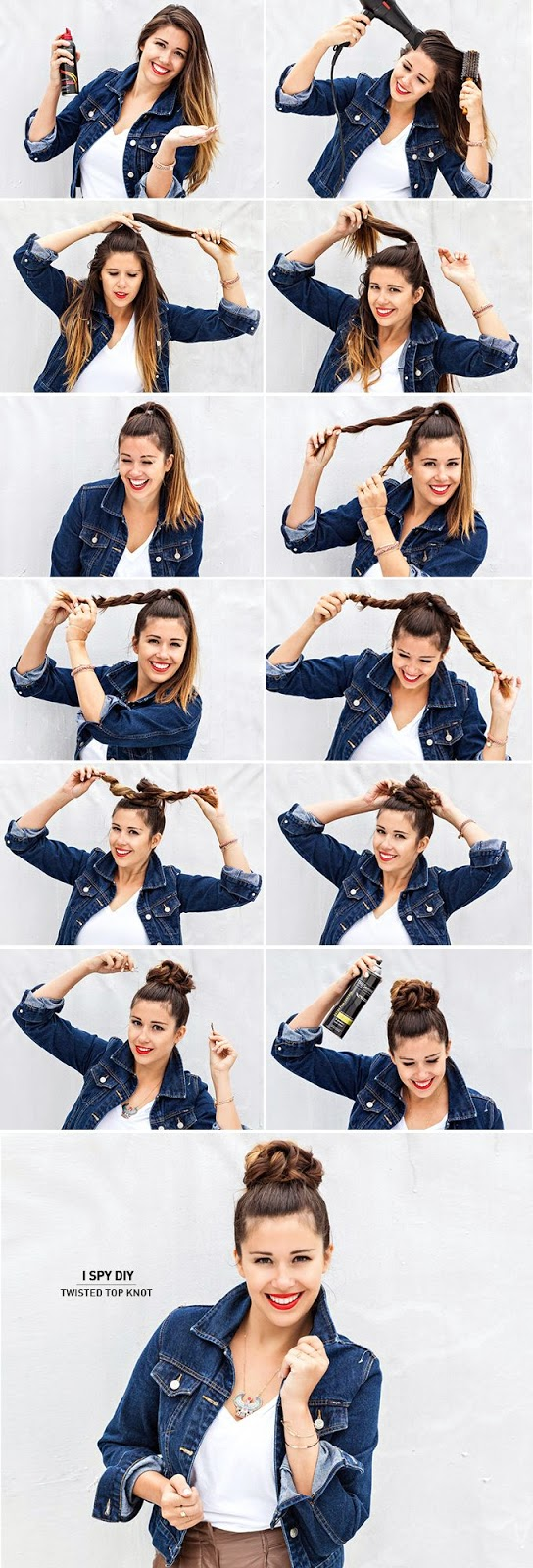 new twisted top hair style tutorial