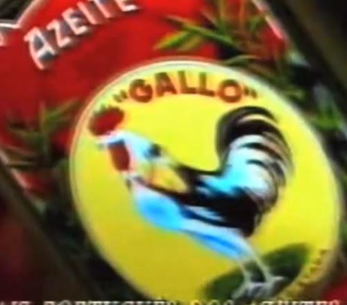 Propaganda do Azeite Galo em 1993. Produzido em Portugal e no Brasil.