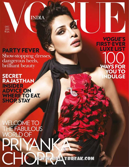priyanka chopra vogue red dress - Priyanka Chopra hot photoshoot for Vogue