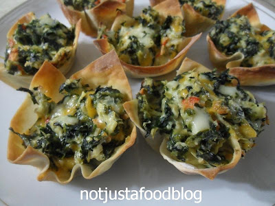 Warm Spinach-Artichoke Cups | Not Just A Food Blog