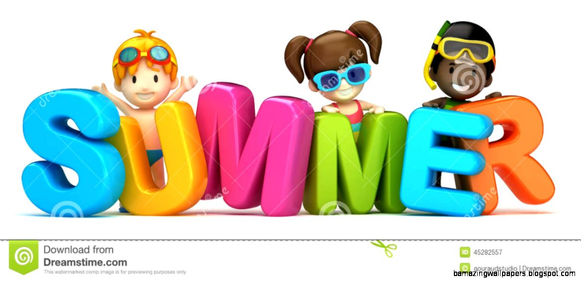 Summer Word And Kids Stock Illustration   Image 45282557