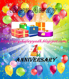 GA 1st Year Blog Anniversary | aryshafayyadh.blogspot.com