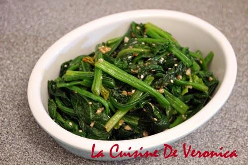 La Cuisine De Veronica 韓國涼拌菠菜 Sigeumchi Namul