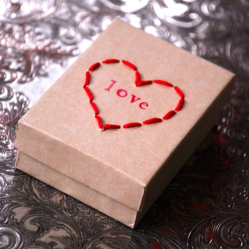 Nifty Craft Idea For Teens Punch Holes On Box And Stitch Any Pattern Heart Would Be Perfect Valentines Too Maybe A Colorful Ornament Or Star