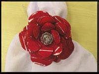 Rosa de latinha de alumínio