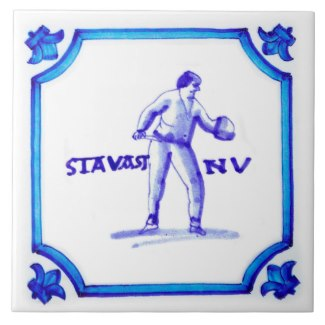 The Stavast Bekkesnijder Dutch Blue Tile collection. Created after the original antiques by Stavast