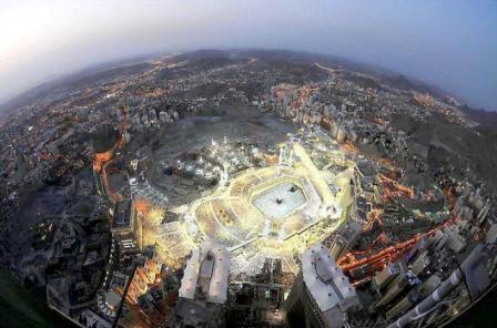 Pandangan Kaaba dari atas:
